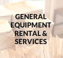 General equipment rental & services